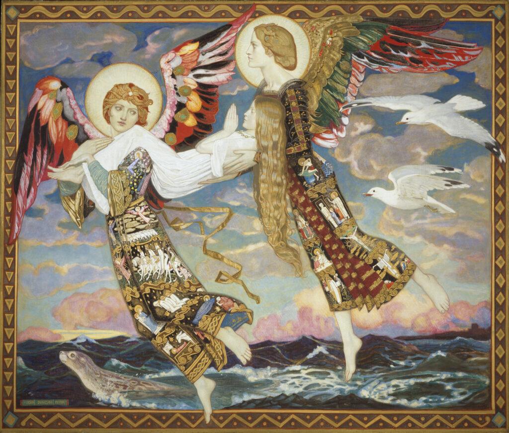 "Джон Дункан, ""Святая Бригита"", 1913"