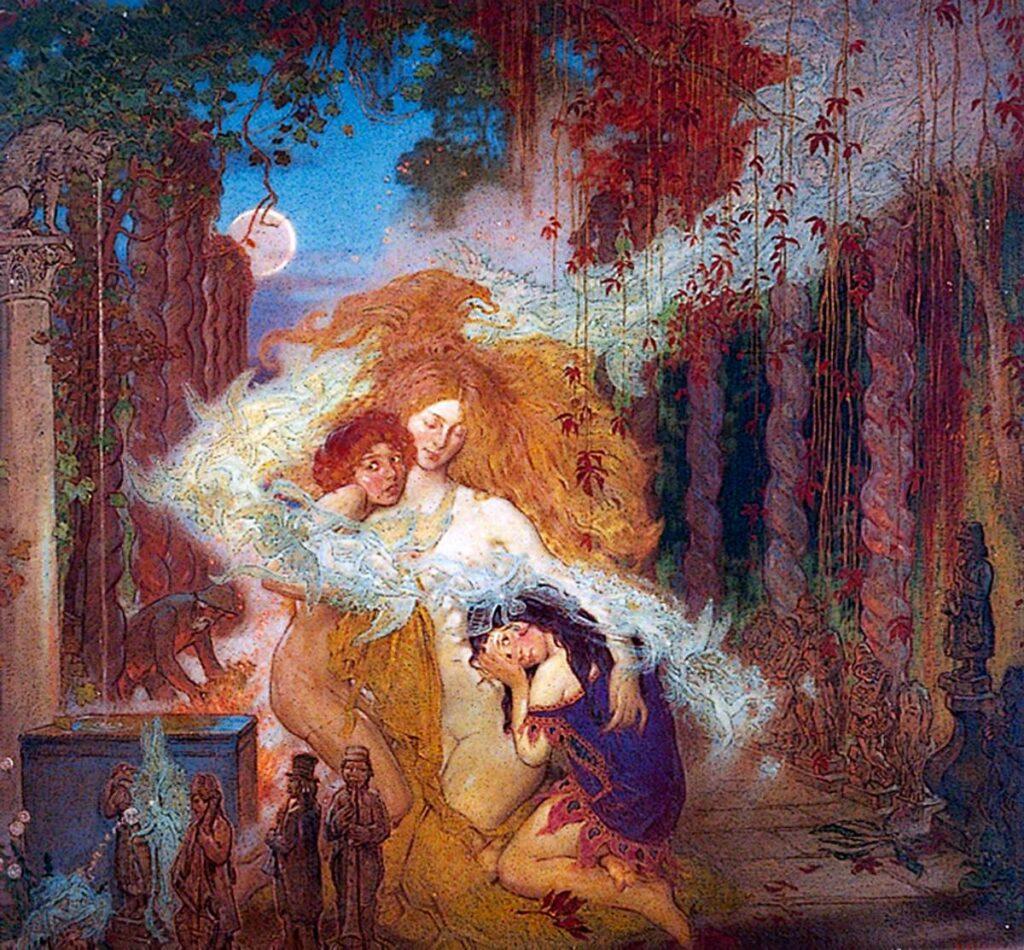 "Уильям Шеклтон, ""Сад гоблинов"", 1872"