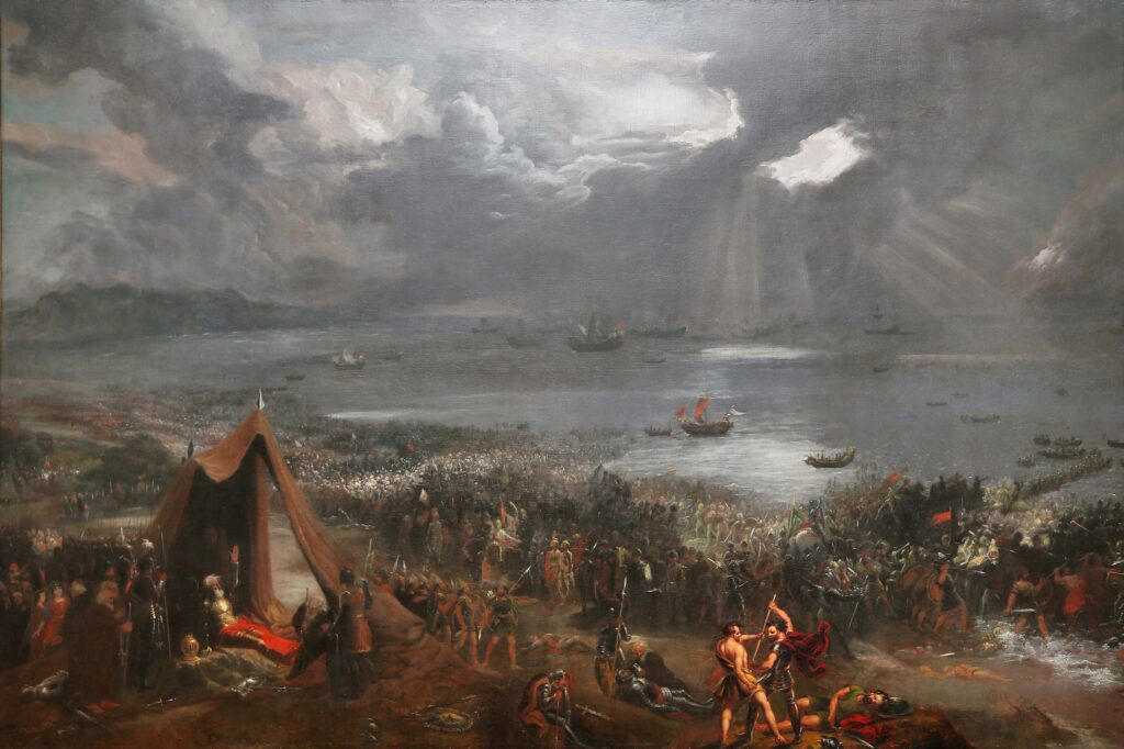 "Хью Фрэзер, ""Битва при Клонтарфе"". Холст, масло, 1826"