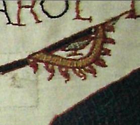 Знамя ворона. Фрагмент гобелена из Байё, конец XI в.