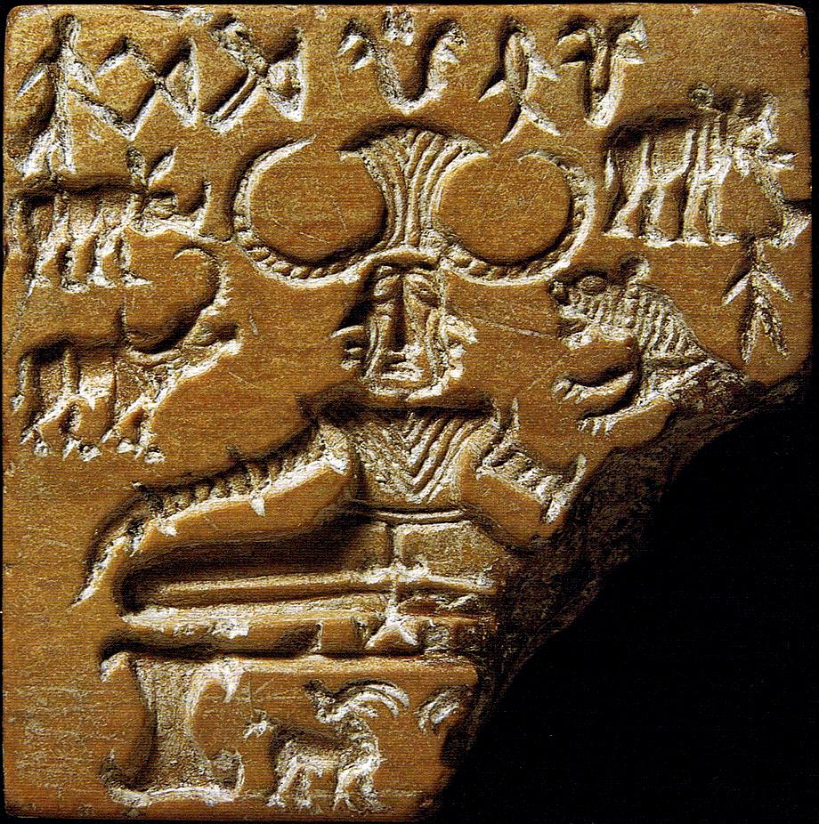 """Печать Пашупати"" из Мохенджо-Даро, ок. 2350-2000 до н.э."